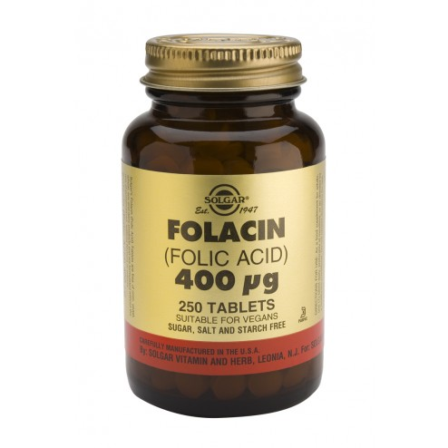 Solgar Folacin - Folic Acid 400ug - 250 Tablets