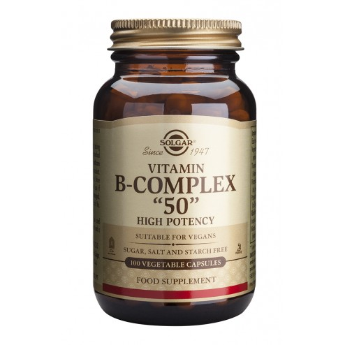 "Solgar Formula Vitamin B-Complex ""50"" : 100 Vegetable Capsules"