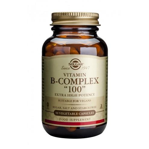 "Solgar Formula Vitamin B-Complex ""100"" : 50 Vegetable Capsules"