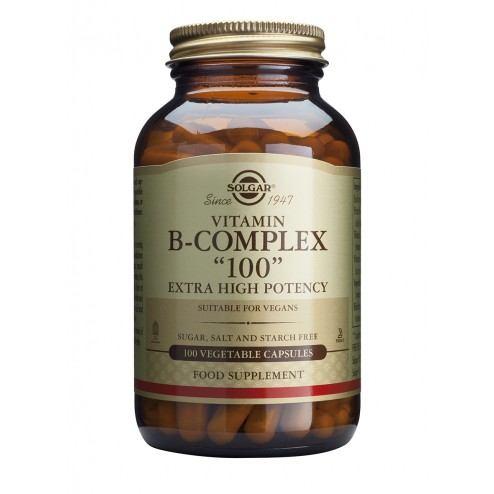 "Solgar Formula Vitamin B-Complex ""100"" : 100 Vegetable Capsules"