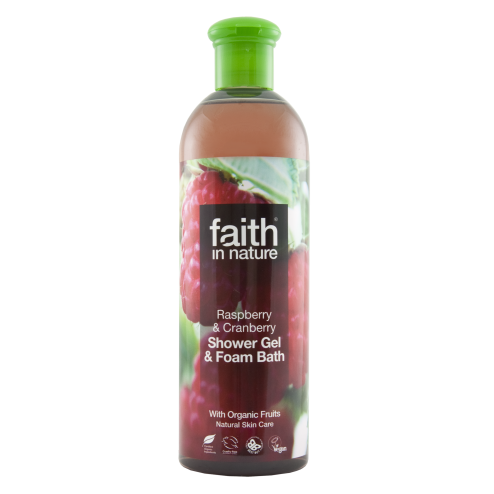 Faith In Nature Raspberry & Cranberry Shower Gel & Foam Bath 400ml