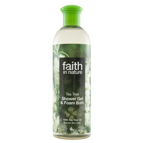 Faith In Nature Tea Tree Shower Gel & Foam Bath 400ml