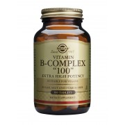 "Solgar Vitamin B Complex ""100"" Extra High Potency: 100 TABLETS"