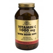 Solgar Vitamin C 1000mg with Rosehips - 250 Tablets