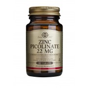 Solgar Zinc Picolinate - 22mg, 100 tablets
