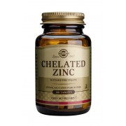 Solgar Chelated Zinc Tablets: 100 Tablets