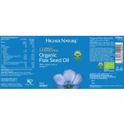 Organic Flax Seed Oil (350ml)