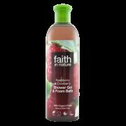 Faith In Nature Raspberry & Cranberry Shower Gel & Foam Bath 400ml
