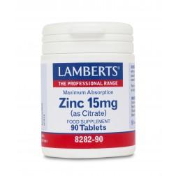 Lamberts  Zinc 15mg  (as Citrate) 90 Tabs