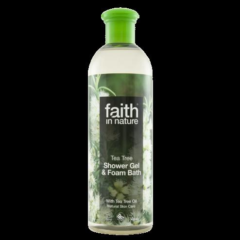 Faith In Nature Tea Tree Shower Gel & Foam Bath 400ml
