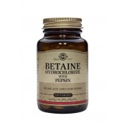 Solgar Betaine Hydrochloride with Pepsin: 100 Tablets